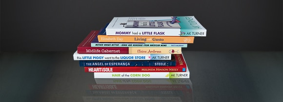 Stack of books designed by DWC